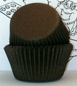 brown cupcake liners - 6