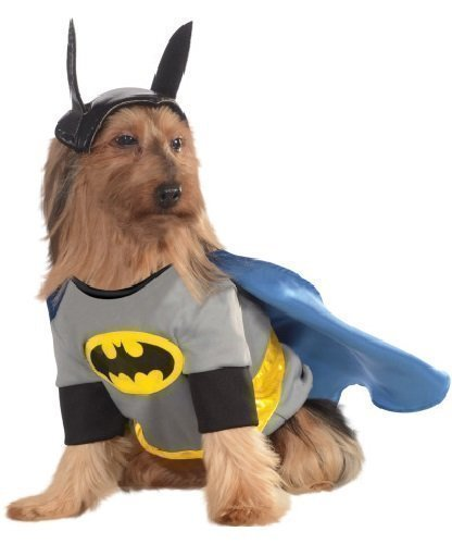 Animal Pet Dog Batman Superhero Halloween Party Fancy Dress Costume Outfit (Small)