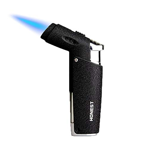 GOLDNCONN Jet Torch Cigar Lighter, Strong Flame Windproof Butane Fuel Cigarette Lighter (Black)
