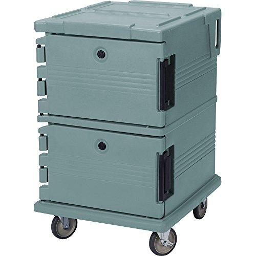 Cambro UPC1200401 Slate Blue Camcart Ultra Pan Carrier - Front - Camcart Blue