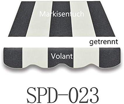 Markisentuch  Markisenstoff  mit  Volant 3x2,5 m Fertig genäht SPD 037