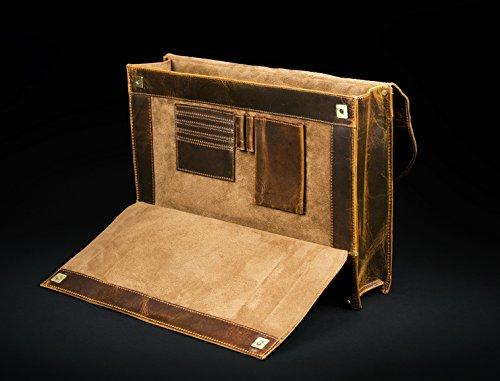 Leder Aktentasche Mann Laptoptasche Briefcase Schultertasche Arbeitstasche Bag Business Tasche Man