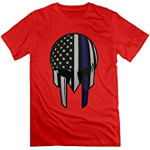 American Thin Blue Line Flag Decal Red Men's Sport T Shirt For Men Size XXL