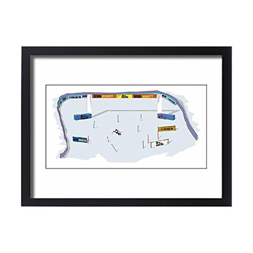 Framed 24x18 Print of Alpine skiing, finish line of giant slalom (13554901)