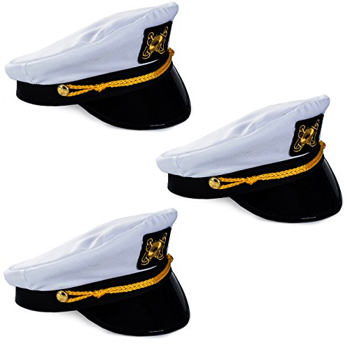 Funny Party Hats Captain Hats - Yacht Captain Hat - Sailor Hats for Men (Sea Hat Adult Captain)