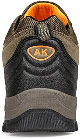 ロッククライミングのためのレースアップアウトドアシューズノンスリップのウェアラブル快適な耐衝撃快適な防水適した男性高層アウトドアブーツノンスリップトレッキングシューズ (Color : Brown, Size : 9.5UK)