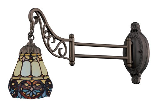 Elk 079-Tb-21 Floral Heart Mix-N-Match 1-Light Swing Arm Sconce, 12-Inch, Tiffany Bronze