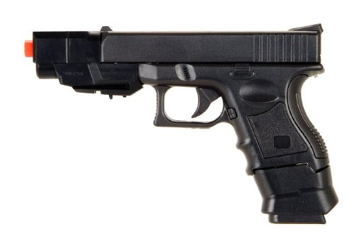 new airsoft spring pistol p698+one gun with changeable style comes with 2 8 round clips / magazines(Airsoft Gun) by CYMA