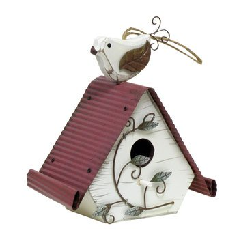 Review Wood Birdhouse with Bird
