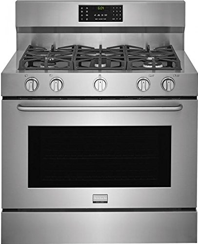 Frigidaire FGDF4085TS Gallery Series 40 Inch Freestanding Dual Fuel Range with 5 Burners, Sealed Cooktop, 6.4 cu. ft. Primary Oven Capacity, in Stainless Steel