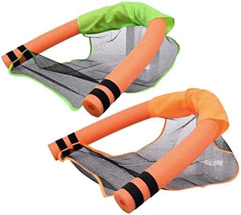 Bek Brands スポンジプールヌードル スイミングプールやウォーターアクセサリー用 プールヌードルチェアフロート メッシュチェアスリング 色は異なる場合あり 1