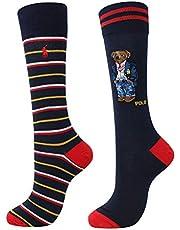 POLO RALPH LAUREN All Over Preppy Polo Bear Socks - 2 Pack (899756PK)