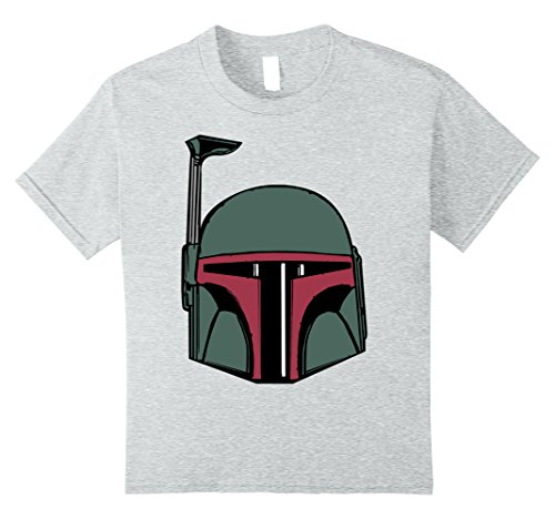 Kids Star Wars Boba Fett Simple Helmet Graphic T-Shirt 12 Heather Grey
