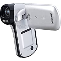 Sanyo Xacti CG10 Dual Camera HD Flash Memory Camcorder with 5x Optical Zoom (White)