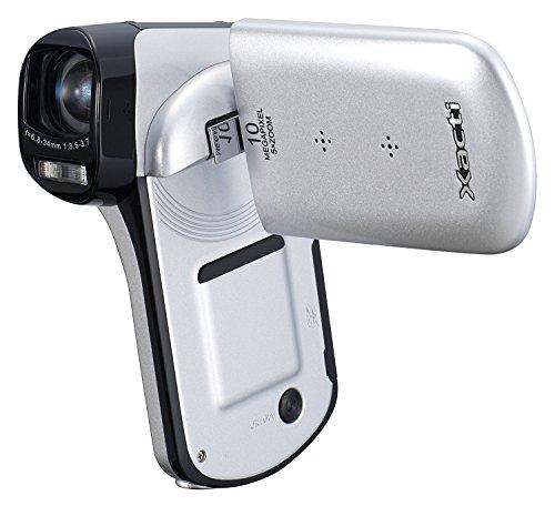 Sanyo Xacti CG10 Dual Camera HD Flash Memory Camcorder with 5x Optical Zoom (White)