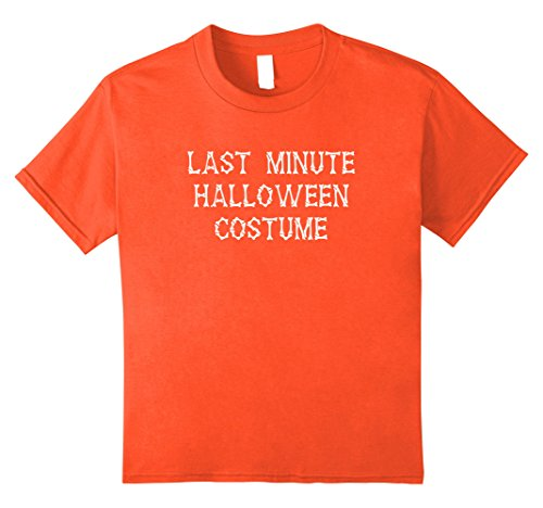 Quick Last Minute Halloween Costumes For Kids - Kids Last Minute Halloween Costume T-Shirt 8 Orange