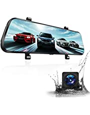 Mirror Dash Cam, Vizomaoi D10 Streaming Media Dash Camera for Cars Front and Rear Dual 1080P with 10-inch IPS Touch Screen, Night Vision Waterproof Backup Camera Reverse Assistance