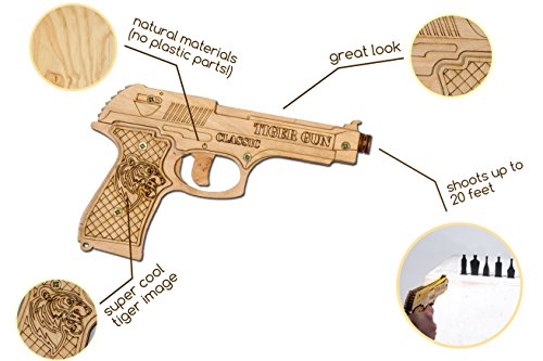 a7ffa5379 Rubber Band Gun Toy Pistol for Kids Age 6 and up with Ammo and Targets for