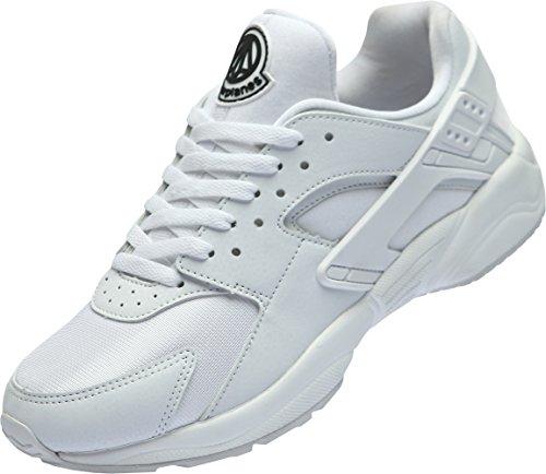 Paperplanes-1358 Unisex Moda Casual Cuero Low Top Sneakers Zapatos Blanco