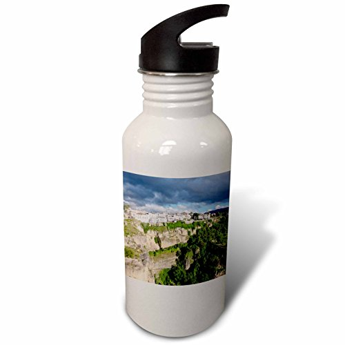 3dRose Danita Delimont - Mountains - Spain, Andalusia, Ronda. - Flip Straw 21oz Water Bottle (wb_277901_2) by 3dRose