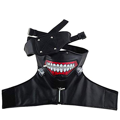 Tokyo Ghoul Kaneki Ken Adjustable Zipper Mask Cosplay Mask for Halloween Costume Party Decorations