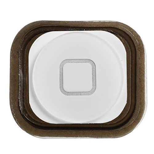 BisLinks New White Menu Home Button with Spacer for Apple iPod Touch 5 5th Generation