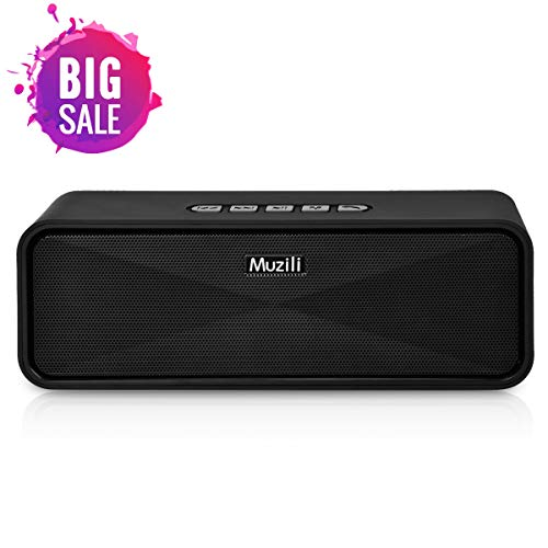Muzili Bluetooth Speakers Bluetooth 5.0 Portable Wireless Speakers with Bluetooth Loud Stereo Sound Dual Drivers Built-in Mic Life-Waterproof for Home Travel Beach Indoor Outdoor