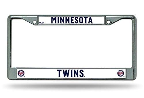 Rico Industries, Inc. Minnesota Twins New Design Chrome Frame Metal License Plate Tag Cover Baseball