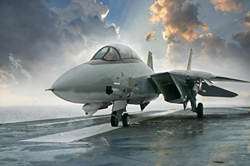 F14 Tomcat Supersonic Twin Engine Fighter Jet Photo Art Print Poster 36x24 inch