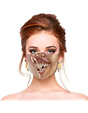 Novelty Halloween Funny Comical Disgusting Mouth Patterns Costume Cosplay Cover for Unisex Men Women Youth Coser Christmas Masquerade Party Gothic, Breathable and Washable