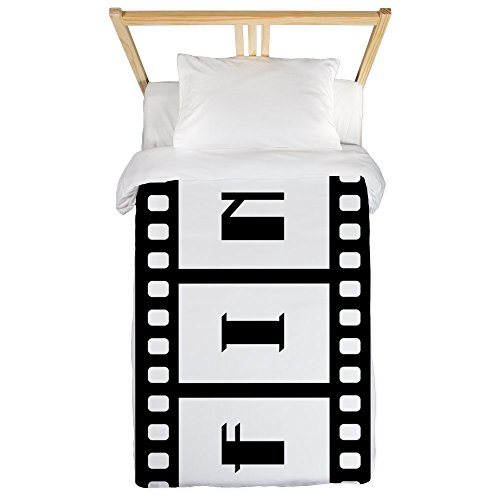 Twin Duvet Cover FIN: Old Hollywood Movie Ending by Truly Teague