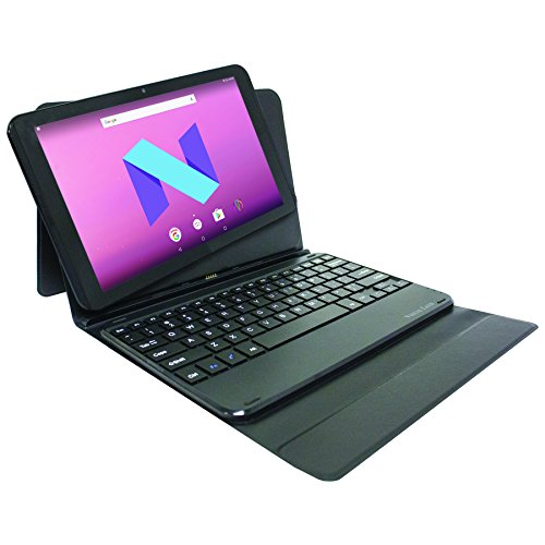 "Visual Land 10.1"" IPS Quad Core [2-In-1] Tablet 16GB includes Designer Docking Keyboard Case with Android 7.0 Nougat"