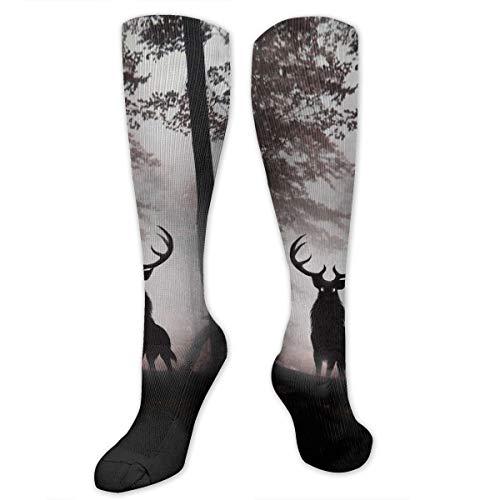 Compression Socks Deer King Soccer Sports Knee High