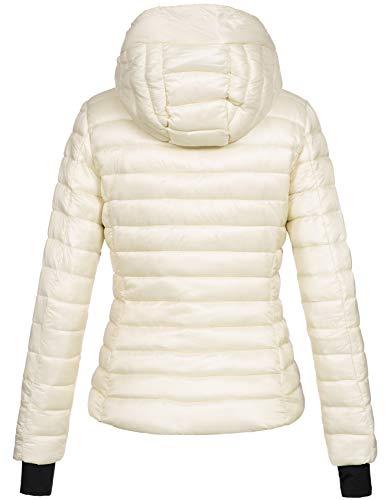 Trapuntata Zarlena Lunga Bianco Donna Manica Giacca Rpqwq1W0B
