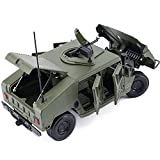 duturpo 1/18 Scale Diecast Willys Jeep Military