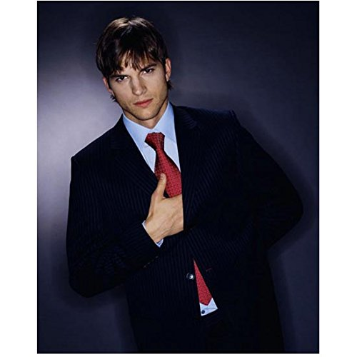 (Ashton Kutcher 8 inch by 10 inch PHOTOGRAPH The Butterfly Effect Two and a Half Men That '70s Show from Hips Up Hand Inside Suit Jacket kn)