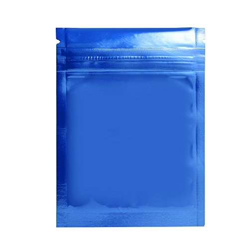 Variety of Colors for 100 PCS Shiny Metallic Mylar Zip Lock Bags Food Grade Package Retail Aluminum Foil Ziplock Pouches Resealable Zipper Packaging Pack Bag 3.0