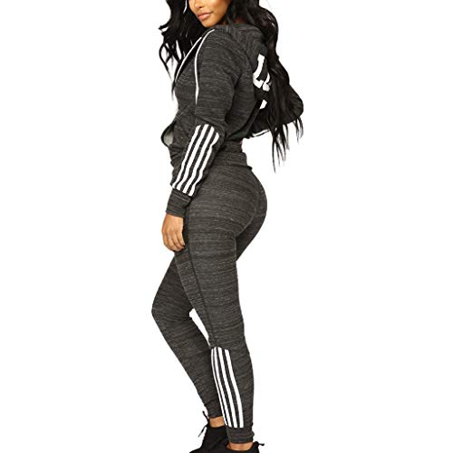 Women's Tracksuit Set Two Piece Hoodie Jacket Jogger Pants Sweatsuit Yoga Activewear -