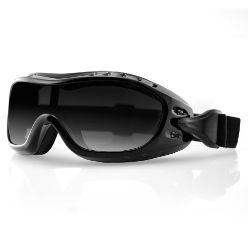 Bobster Night Hawk Fit On Sunglasses,Black Frame/Smoked Lens,one size
