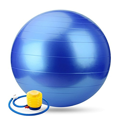 Osier Pure Resistant Fitness Ball Stability Yoga Ball Anti-Burst Swiss Ball Inflatable Balance Ball with Pump