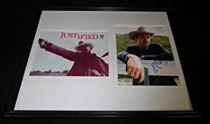 Timothy Olyphant Signed Framed 16x20 Photo Set Justified