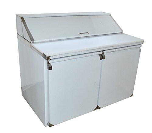 48'' 2-Door Commercial Refrigerated Sandwich Pizza Prep Table Stainless Steel