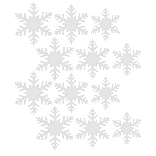 12PCS 3M Paper Winter Snowflake Ornaments w/String Hanging (China Snowflake Ornament)