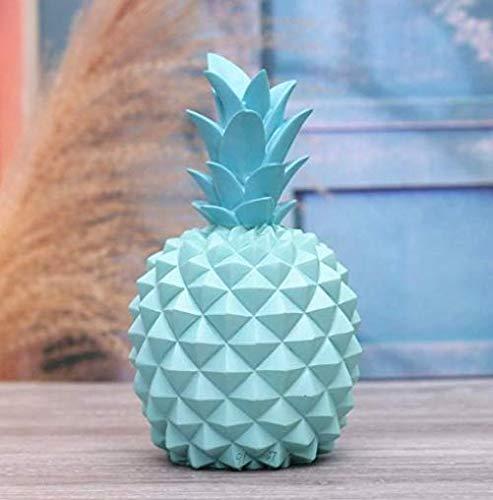 Mings Ananas ornement tirelire décoration de la maison cadeau d'anniversaire (bleu)