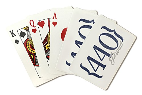 Cleveland, Ohio - 440 Area Code (Blue) (Playing Card Deck - 52 Card Poker Size with Jokers)