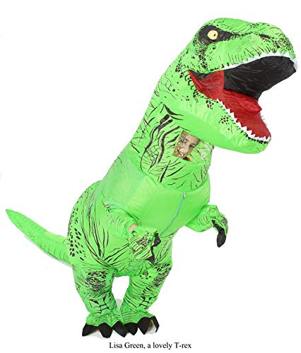 GOPRIME Dinosaur Costume, Halloween Party Dress, Fantastic Dino Theme Cosplay - Dress Green Cosplay