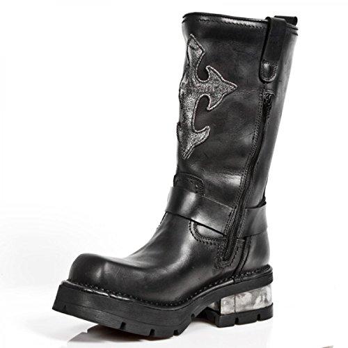 New Rock Laarzen M.1610-s1 Stedelijke Biker Boots Zwarte Mannen