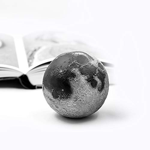 (AstroReality Lunar 3D Printed Scientific Moon Model, Hand Painted with Interactive Augmented Reality Educational Smartphone App, Perfect Home and Office Desk Decor Gift (Lunar Regular) )