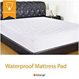 Allrange Hypoallergenic Quilted Fitted Waterproof Mattress Pad, Stretch-up-to 16'', Moisture Management, Stain Release, Snug Fit, Mattress Protector, Twin XL