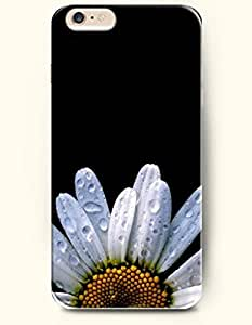 OOFIT iPhone 6 Case ( 4.7 Inches ) - A white sunflower with waterdrops